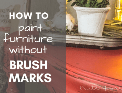 How to Paint Furniture without Streaks (aka: brush marks)