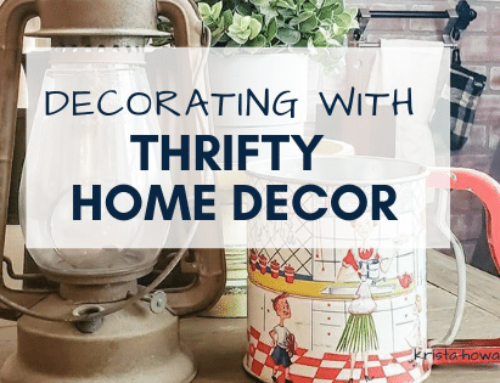 Decorating with Thrifty Home Decor