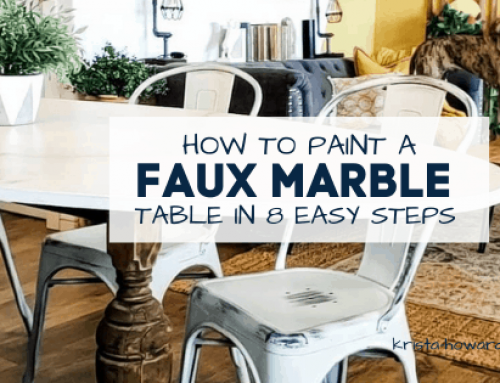 How to Paint a Faux Marble Table in 8 Easy Steps